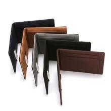 цена на Wallet Slim RFID Blocking Business Leather Wallet Credit Card Holder Women Men