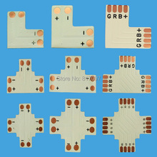 "20 PCS Conector para tira luzes LED RGB SMD3528 5050 tira CONDUZIDA ""+"" ""T"" ""L"" forma por favor indique qual deles quando a ordem"