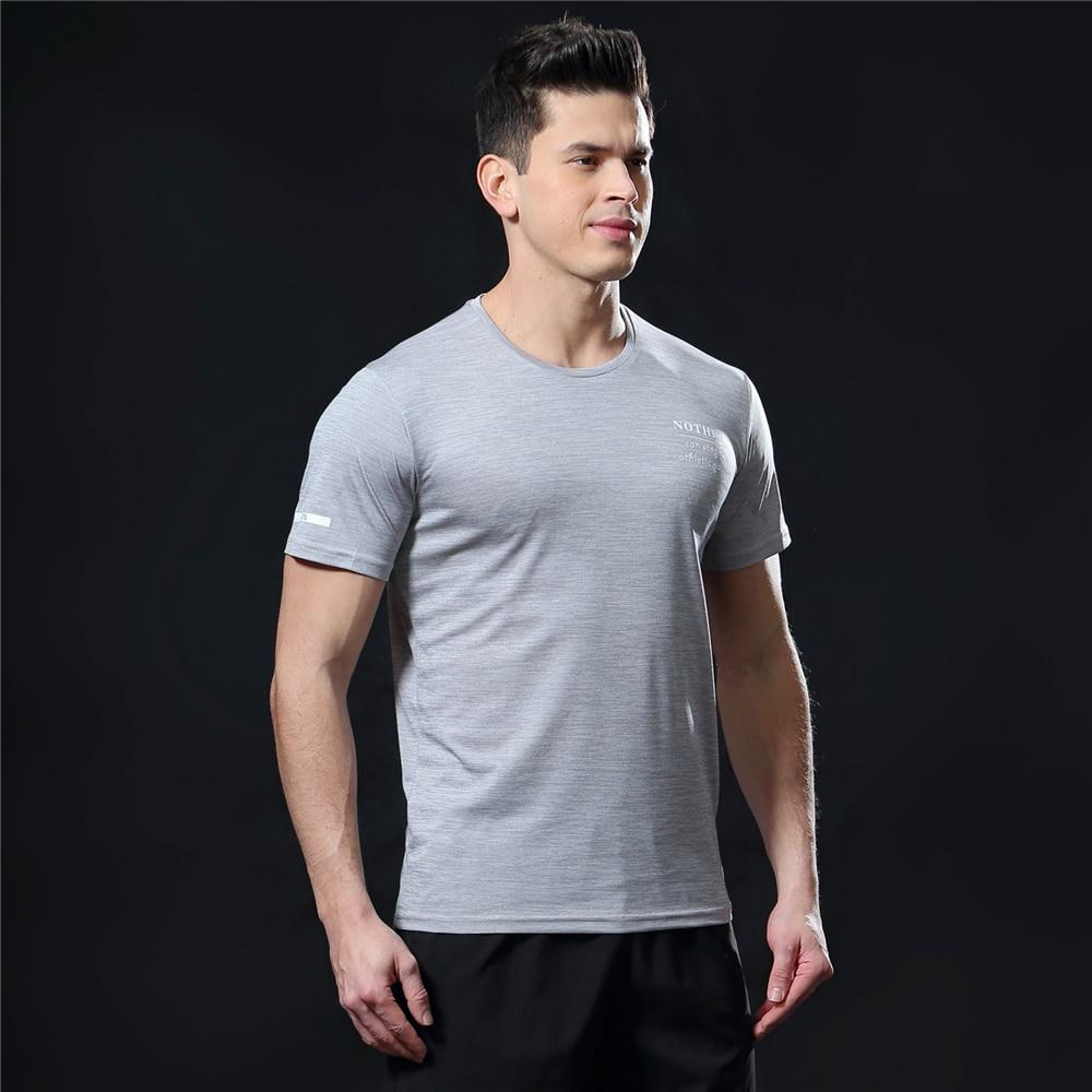 GANYANR Running T Shirt Men Basketball Tennis Sportswear Tee Sport Fitness Gym Jogging Tops Slim Fit quick dry Exercise Training 38
