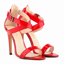 Summer sandals golden princess shiny piece sexy open-toed stiletto wedding shoes high heel sandals size 34-39 102-4PA