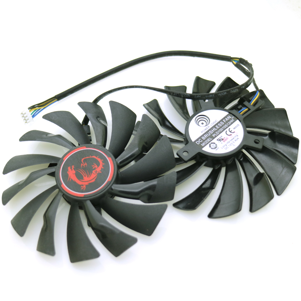 2pcs lot PLD10010S12HH 12V 0 40A 4Pin 95mm For MSI R9 380X 390X GAMING GTX960 GTX950 Cooler Cooling Fan in Fans Cooling from Computer Office