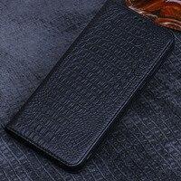Genuine For Oneplus 7 pro Flip Genuine Leather cover case protective case for one plus 7 back housing capa Original funda coque
