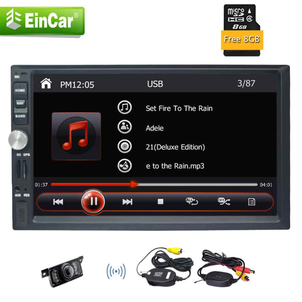 Double 2 din in dash 7'' gps navigation 2 din headunit car pc 1080P Video Mirror link USB/SD Bluetooth+Wireless Back-up camera