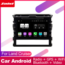 ZaiXi For Toyota Land Cruiser 2016~2019 Car Android Multimedia System 2 DIN Auto DVD Player GPS Navi Navigation Radio Audio WiFi funrover android 8 0 9 2 din car multimedia dvd player radio tape recorder for kia k2 rio 2010 2016 wifi gps navigation navi fm