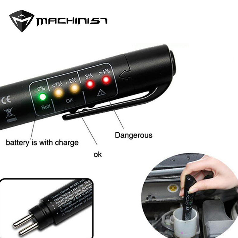 цена на Brake Fluid Liquid Tester Pen With 5 LED Car Auto Vehicle Tools Diagnostic Tools Mini Brake Fluid Tester For DOT3/DOT4 free ship