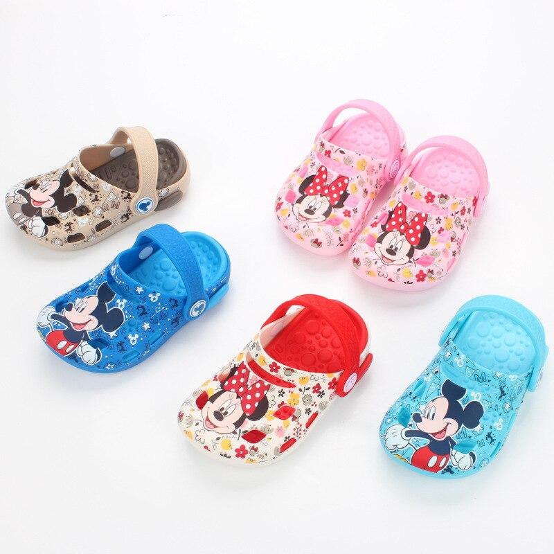 Zapatillas Zapatos Verano Chanclas Clog Niño Niños Playa Sandalias Pvc Agua Mickey Croc Descalzo Disney Niñas H2I9ED