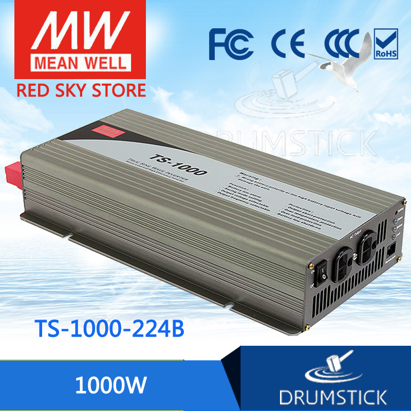 цена на Hot sale MEAN WELL TS-1000-224B EUROPE Standard 230V meanwell TS-1000 1000W True Sine Wave DC-AC Power Inverter
