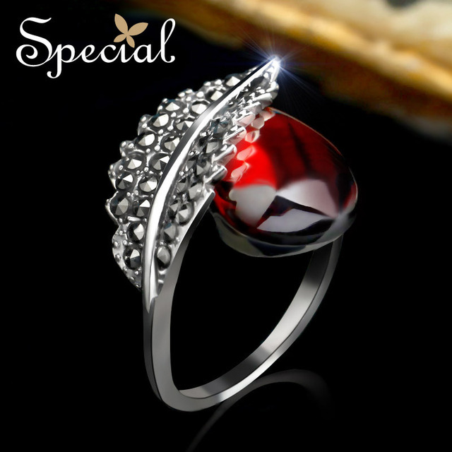 Special New Fashion Engagement Rings 925 Sterling Silver Jewelry Wedding Red Aaa Zirconia