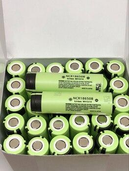 18pcs/lot New Original Battery For Panasonic NCR18650B 3.7V 3400mah 18650 Rechargeable Lithium Batteries For Laptop Flashlights