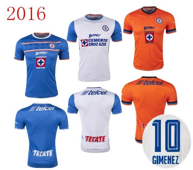eecfb641489 2016 Cruz Azul De Mexico Jersey 15 16 Blue Cross Soccer Home Blue Away  White 3RD Orange Football Shirt 2015 Cruz Azul jersey