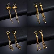Mms трендовые золотые серьги с бантом/бусинами/кулон в форме