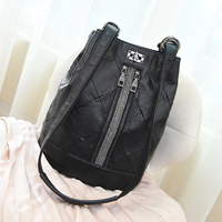 QINRANGUIO Women Backpack 2019 New Fashion Diamond Lattice Black Backpack Women High Quality PU Leather Backpack School