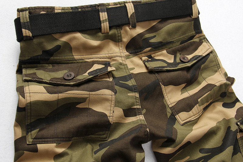 Winter Thicken Fleece Army Cargo Tactical Pants Overalls Men's Military Cotton Casual Camouflage Trousers Warm Pants 10