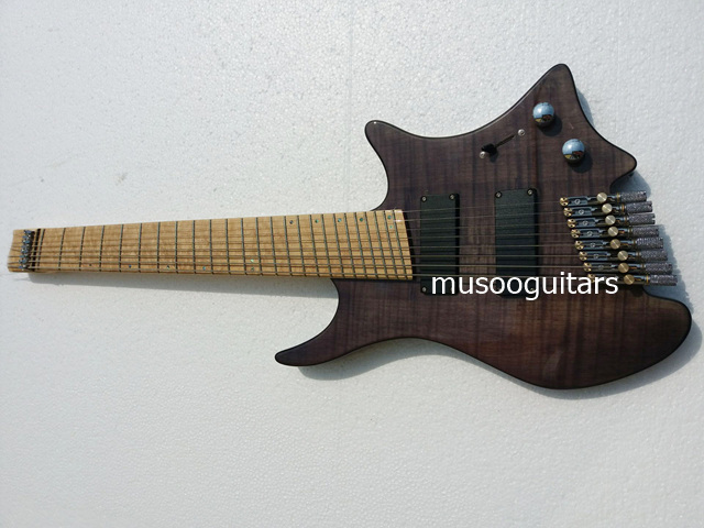 musoo brand 8 strings fanned fret headless electric guitar in guitar from sports entertainment. Black Bedroom Furniture Sets. Home Design Ideas