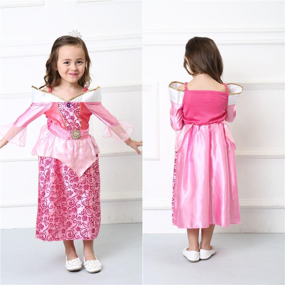 Vocole Girl Sleeping Beauty Costume Aurora Princess Fancy Dress Halloween Kid Cosplay Long Dress