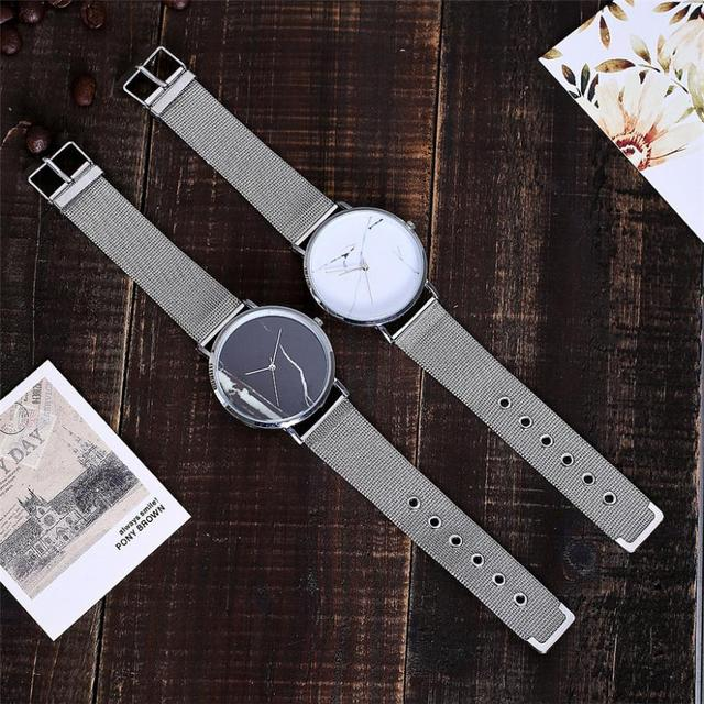 CCQ Casual Quartz Stainless Steel Band Marble Strap Watch Analog Wrist Watch ladies watches top brand luxury clock women silicon