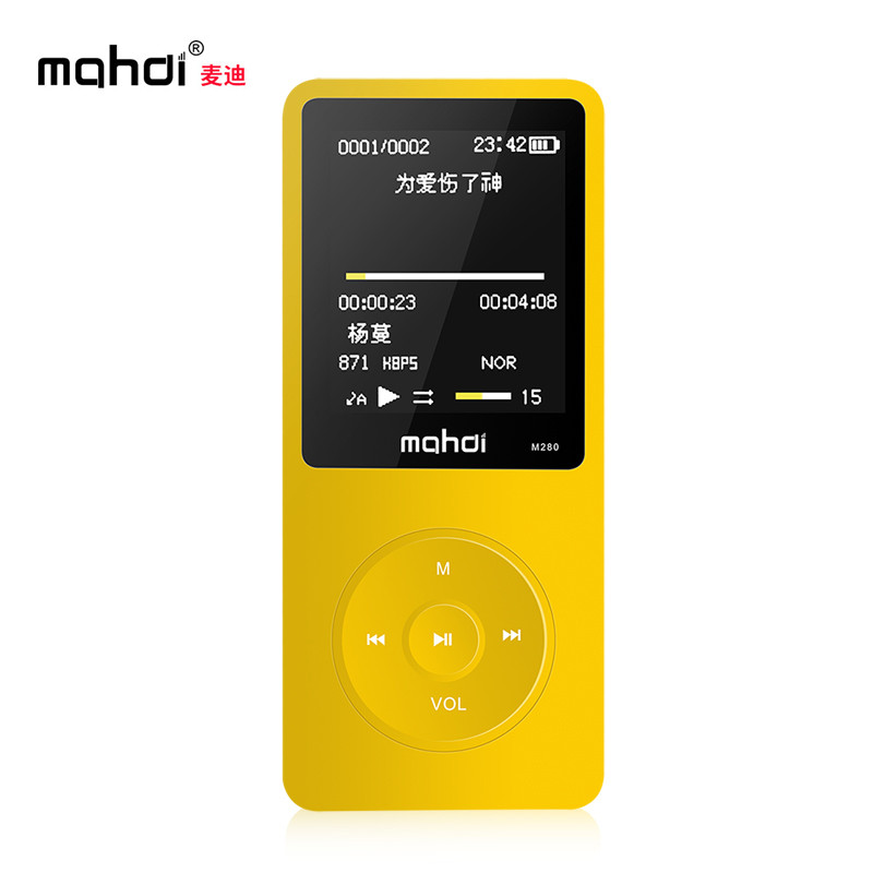 Mahdi M280 Sport <font><b>MP3</b></font>-Spieler Laufen Tragbare Audio HIFI-<font><b>Player</b></font> 8 GB 1,8