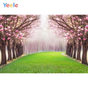 Low Cost Yeele Spring Scenery Backdrops Wedding Photography Flowers Trees Photo Booth Photographic Backgrounds Photo Studio Back Drops