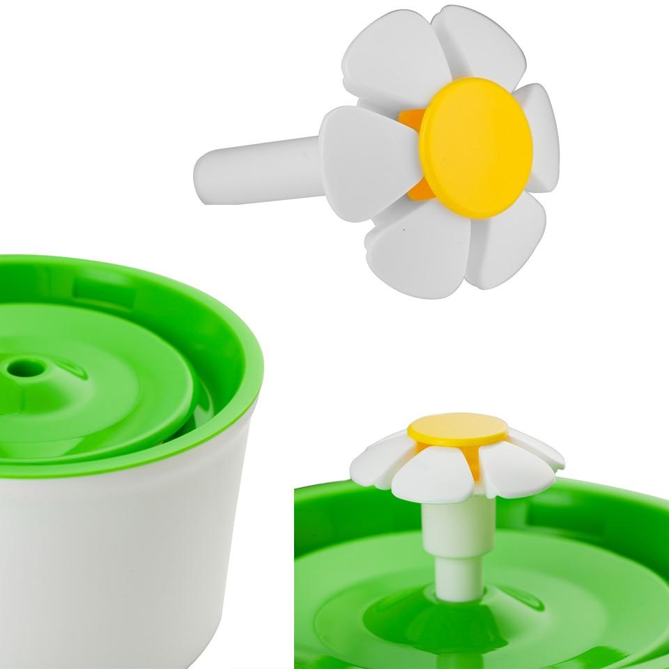 Grüne Blume Sytle Automatische Elektrische 1,6 L Haustier Brunnen ...