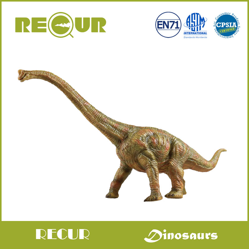 где купить  Recur Toys Delicate Jurassic Dinosaur Brachiosaurus Hand Painted Soft PVC Animal Model Action & Figure Toys Collection For Kids  по лучшей цене
