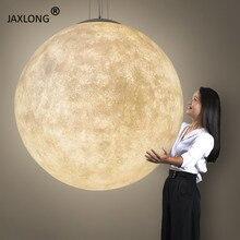 Nordic LED Pendant Lights Resin Moon Home Decor lustre Light Fixture Bedroom Warm Romantic & Lighting Loft Hanging Lamp