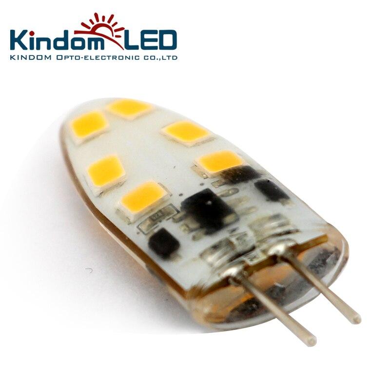 KINDOMLED 10pcs G4 LED Lamp 12 Volt LED Light Bulbs AC&DC 1W 3W LED Light 360 Beam Angle Lights Replace Halogen G4 Chandelier