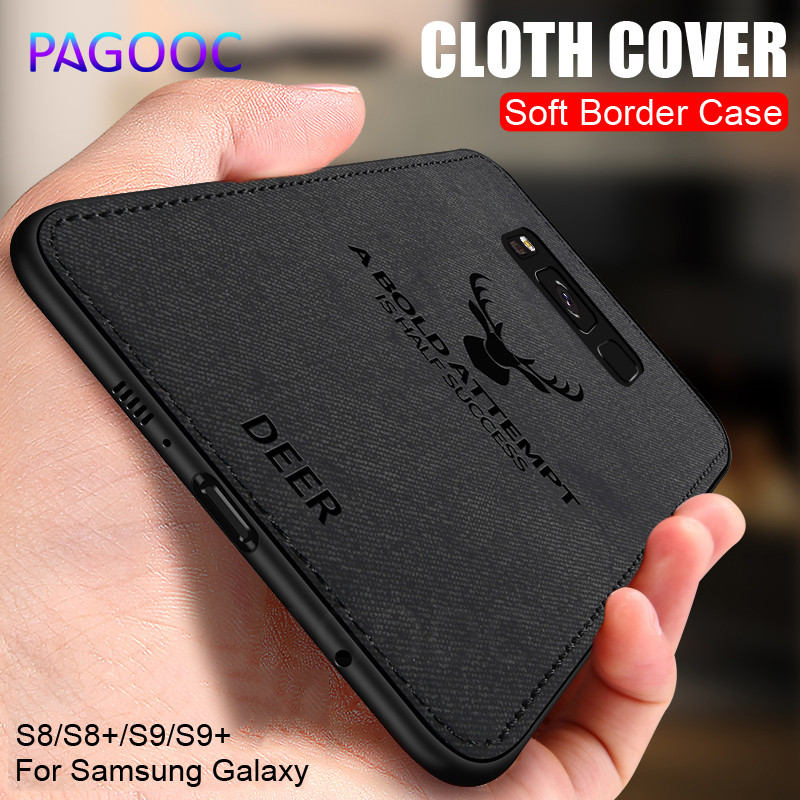 Business Soft <font><b>Cloth</b></font> Back <font><b>Case</b></font> For <font><b>Samsung</b></font> Galaxy S8 S9 A6 <font><b>A8</b></font> Plus <font><b>2018</b></font> S8 S9 Shockproof Cover For <font><b>Samsung</b></font> Note 8 9 Phone <font><b>Case</b></font> image
