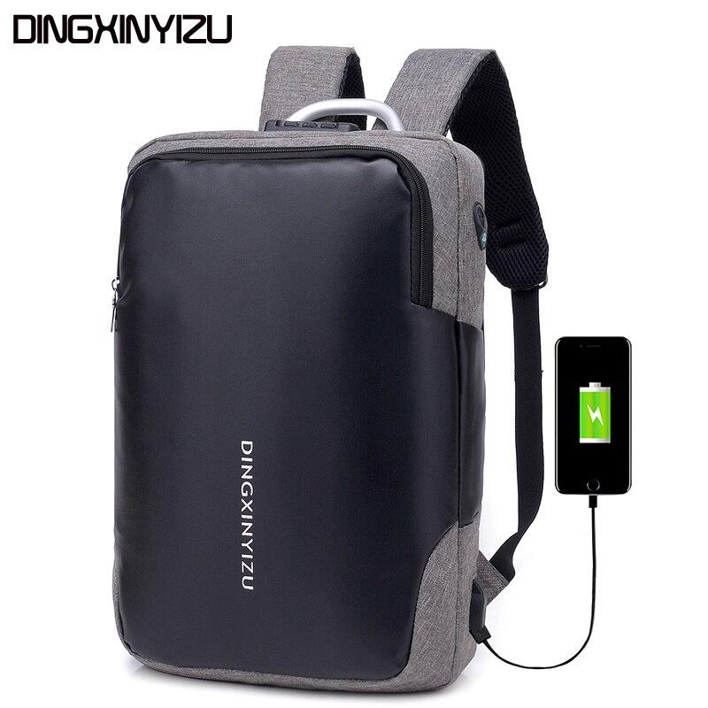 DINGXINYIZU Brand Business 15.6inch Laptop Men Backpacks Unisex School Bag  Waterproof Women Schoolbags Travel Shoulder Bags Male-in Backpacks from  Luggage ... 1bd92da0a1317