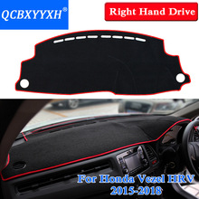 Car Styling Dashboard Protective Mat Shade Cushion Insulation pad Interior Carpet For Honda Vezel HRV 2015-2018 Right Hand Drive