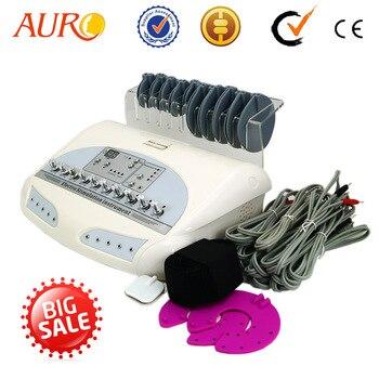 Garantía 100% ruso ondas microcurrent EMS estimulador muscular eléctrico Cuerpo masajeador de pérdida de peso electro estimulación máquina