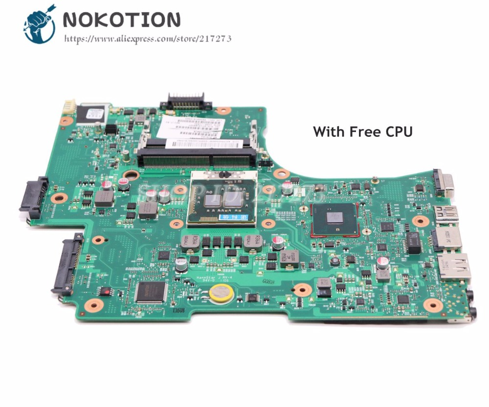 NOKOTION V000218080 V000218010 MAIN BOARD For Toshiba Satellite L650 L655 Laptop Motherboard HM55 UMA MB DDR3 Free CPU for toshiba satellite l655 l650 laptop motherboard v000218010 6050a2332401 mb a03 1310a2332401
