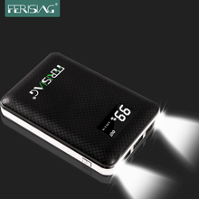 Ferising Real 10400mAh Power Bank External Dual USB Quick Charger Polymer Battery Portable Powerbank with LED Display PB-104