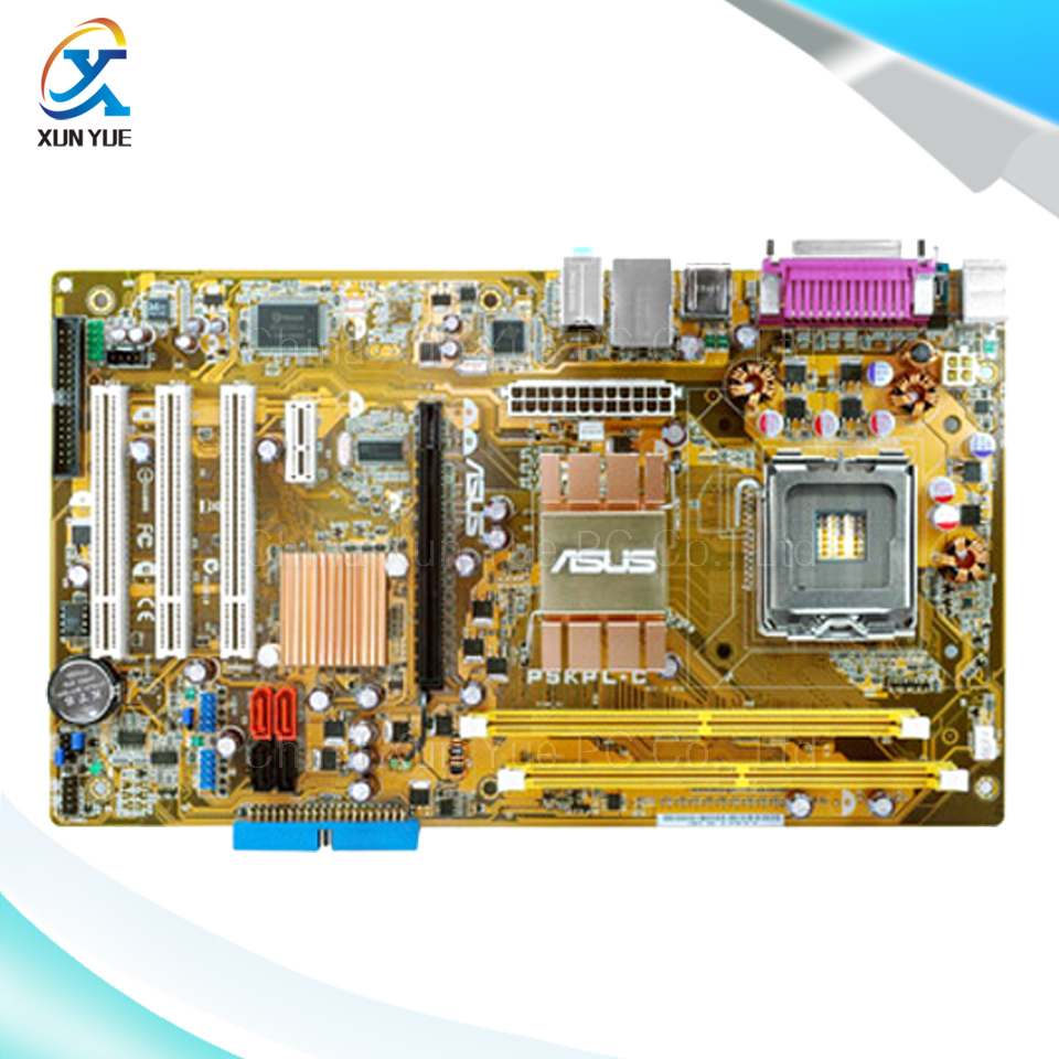 P5KPL-C Original Used Desktop Motherboard Intel G31 Socket LGA 775 DDR2 4G SATA2 USB2.0 ATX intel g31 micro atx lga 775 ddr2 computer motherboard blue silver