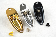 Gold/Chrome/Black Electric Guitar Jack Socket Plated With 2 Screws For ST SQ