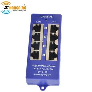 Image 3 - Горячая Распродажа 4 портовый гигабитный Инжектор PoE Midspan 24 в 48 в, режим работы B для IP камеры, MikroTik и других сетевых устройств
