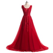 Beaded Lace Appliques Backless Long Formal Evening Gown Dress Burgundy Royal Silver Pink Prom Ball Dresses Vestido de festa C001