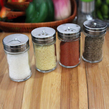 kichen glass spice bottle set condiment bottles spice jar pepper powder bottle seasoning box set