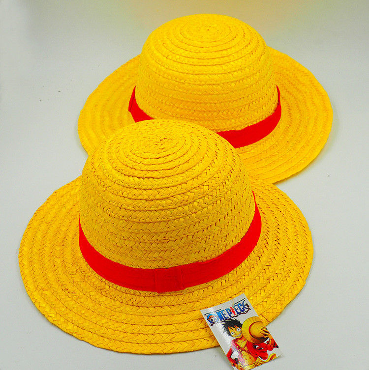 b7bce91991d Anime One Piece Luffy Anime Cosplay Straw Boater Beach Hat Cap Halloween straw  hat Cosplay Accessory-in Boys Costume Accessories from Novelty   Special  Use ...