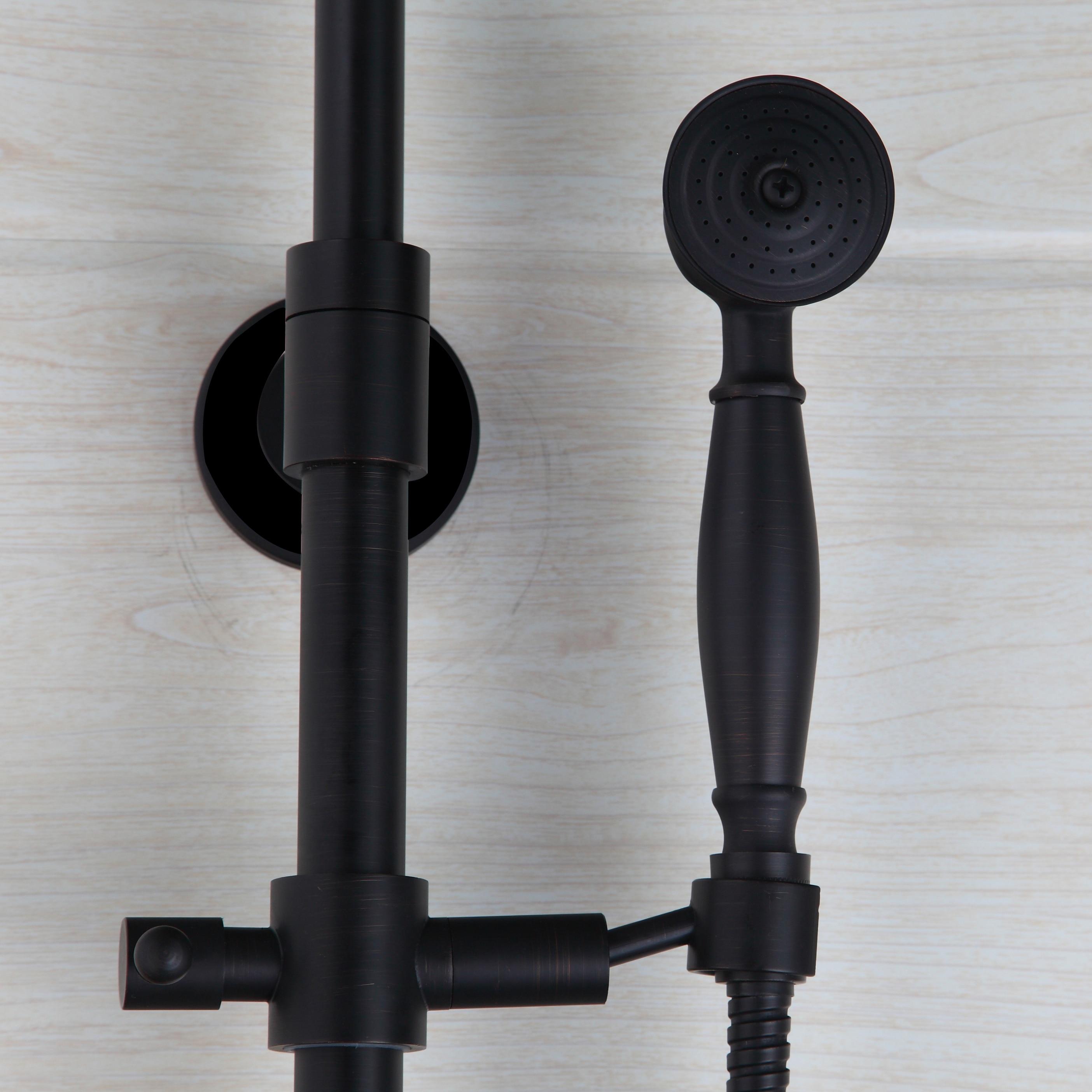 Bathroom ORB Luxury Shower faucet set European style Retro Black ...