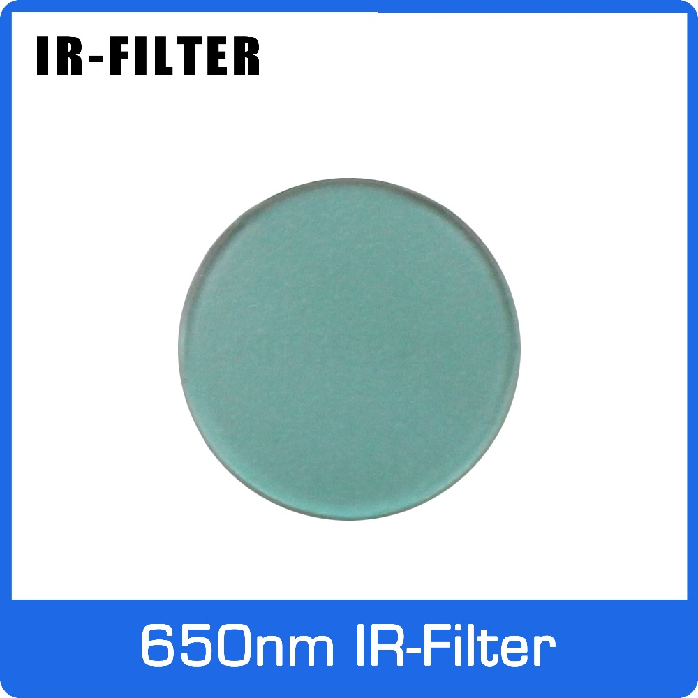 650nm Round IR Filter Diameter 10.3mm For Action Camera/Drive Recorder/Video Doorbell Lens Infrared Cut Off