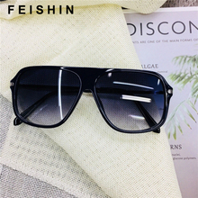 FEISHINI 2019 Big Leopard Print Frame Ladies Sunglasses Oversized Vintage Protector Glasses For Driving Male Shield EyeGlasses