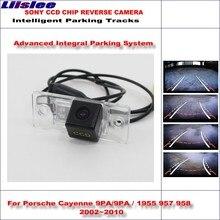 Liislee HD CCD Rear Camera For Porsche Cayenne 9PA / 1955 957 958 2002~2010 Intelligent Parking Tracks Reverse NTSC RCA AUX штатная магнитола carmedia mkd 8222 p5 8 porsche cayenne 2002 2010