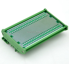 DIN Rail Mounting Carrier Housing with Prototype Board. PCB Size 137.4 x 72mm