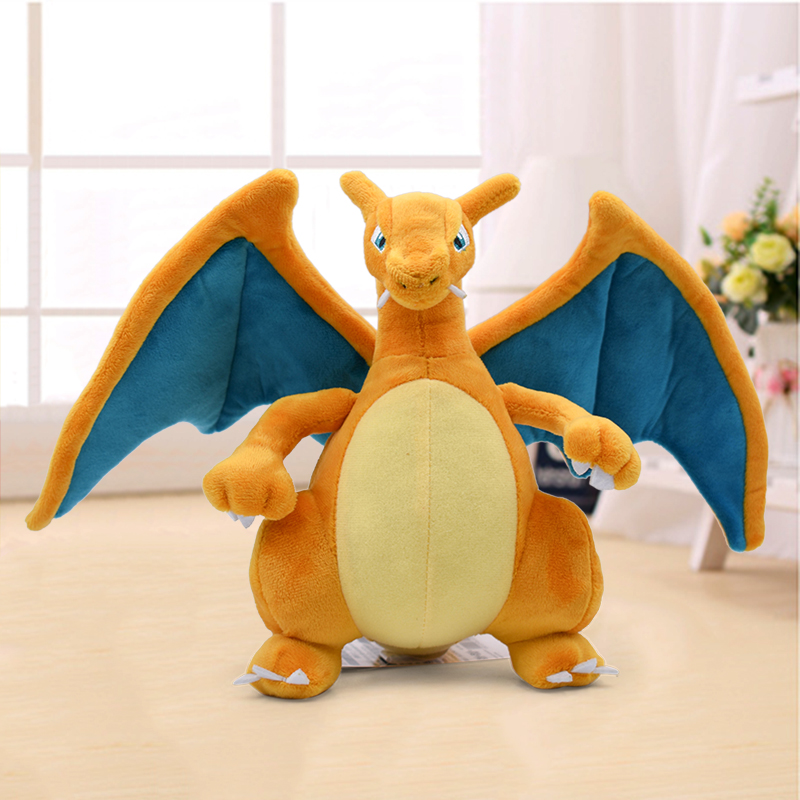 21cm New Anime Charizard Center Mega Evolution Soft Plush Toys Hi-Q PP Cotton Stuffed Animal Children Plush Doll Gift
