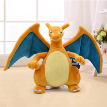 21cm New Anime Charizard Center Mega Evolution Soft Plush Toys Hi-Q PP Cotton Stuffed Animal Children Doll Gift