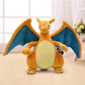 Image 1 - 21cm New Anime Charizard Center Mega Evolution Soft Plush Toys Hi Q PP Cotton Stuffed Animal Children Plush Doll Gift