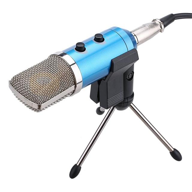 MK-F100TL профессиональный конденсаторный микрофон проводной Ручной аудио студийная звуковая для Запись Компьютер караоке microfono MK-F100TL