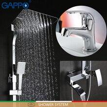 GAPPO смеситель для раковины, Бронзовый Смеситель для воды, смеситель для раковины, Современная Душевая система