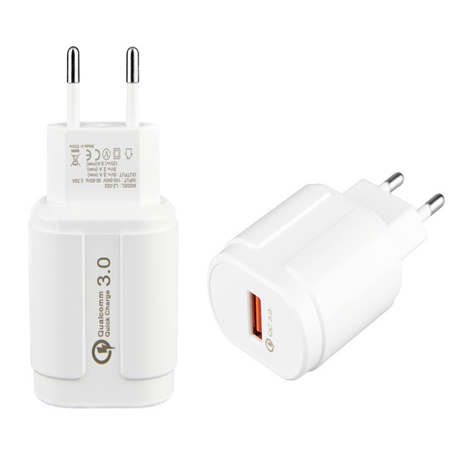Quick Charge 3.0 USB Charger QC 3.0Mobile Phone Charger  5V/9V/12 for iphone x 8 7 Samsung huawei Xiaomi for tablet wall charger