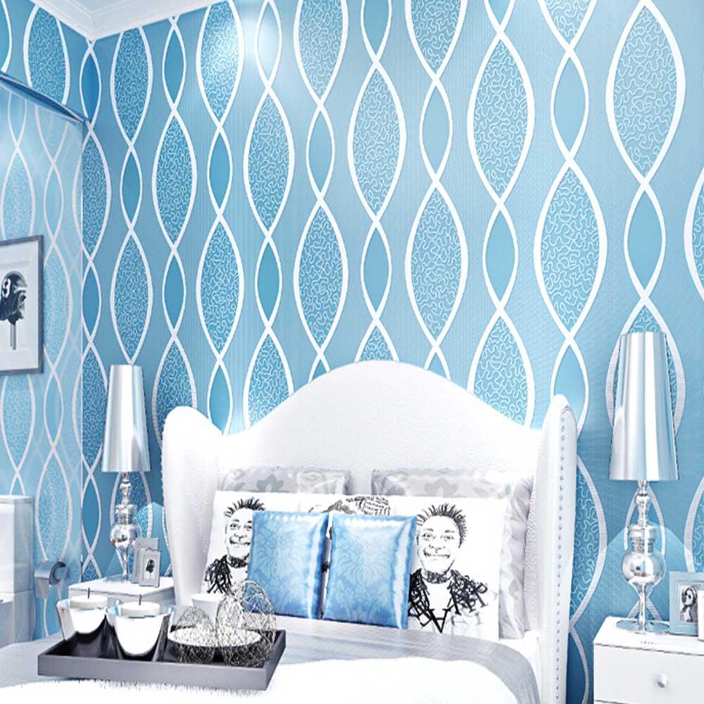 ộộ 3d Abstracto Wallpapers Papel Pintado De La Raya Azul